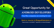 Huge job openings for Android developers