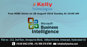 Free MSBI Demo on 28-August-2016 Sunday At 10:00 AM