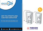 Fan Capacitor – Buy Tibcon 2.25 MFD Dry Polypropylene Can FanCapacitor