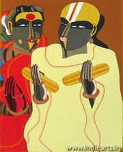 Silk Screen Paper Painting| Thota Vaikuntam Artist| Modern Indian Art