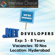 Looking for ASP.NET Developers - Hyderabad