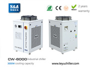 S&A CNC router chiller with water filter installed and r410a refrigera