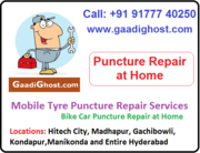 Doorstep Bike, Car Tube Tyre Puncture Repair in Hitech City
