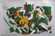 M F Husain Paintings