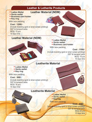 COMBO SETS OF LADIES & GENTS WALLETS WITH BUSINESS HOLDER AND KEYRING