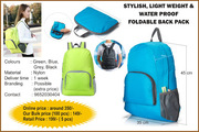STYLISH,  LIGHTWEIGHT &  WATERPROOF FOLDABLE BACKPACK