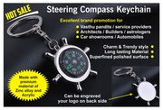 STEERING COMPASS KEY RING