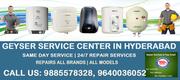 Geyser Service Center in Hyderabad Secunderabad