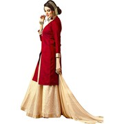 Viva N Diva Red Colored  Banarasi Silk Suit