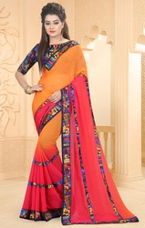 Triveni Amusing Yellow Colored Border Worked Saree for Women