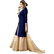 Viva N Diva Navy Blue Colored Banarasi Silk Suit