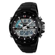Buy Skmei 1016 Black Dual Time Alarm Chronograph Water Resistance 50m