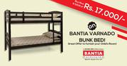 Buy Now & SAVE of Rs. 17, 000/- on BANTIA VARNADO BUNK BED! Great Offer