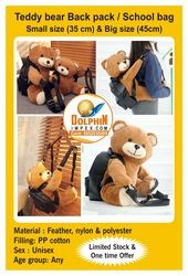 Teddy bear Backpack / Schoolbag