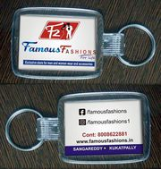 Multicolor keychains with your logo