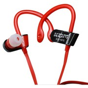 Buy Hook Style Handsfree Earphones with Mic and 3.5 Mm Jack (Red)