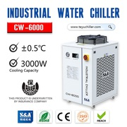 S&A recirculating water cooled chiller CW-6000 with±0.5℃stability