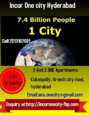 2 and 3 BHK flats at Incor One city Kukatpally Hyderabad