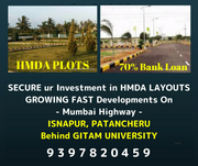 HMDA RESIDENTIAL PLOTS SALE NEAR TO GITAM UNIVERSITY IN PATANCHERU, HYD