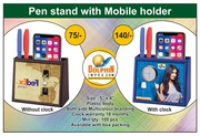 PEN STAND WITH MOBILE HOLDER