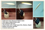 LED TOUCH LAMP WITH PEN & MOBILE HOLDER