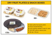 DRY FRUIT PLATES & SNACK BOXES