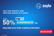 Zoylo Offers 50% Paytm Cashback on Online Doctor Consultation