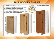 WOODEN 2019 DIARIES