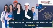 Easy Ways For PR | Australia Skilled Nominated Visa For Australia PR