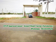 305 Sq Yards South,  West Corner Plot -Airport Road Facing venture