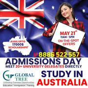 Australian University Admissions Day for 2019 Intake