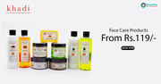 khadi Coupons,  Deals & Offers: Face Care Products From Rs.119-May 2019