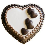 Heart-to-Heart Chocolate Cake