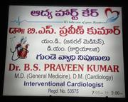Dr Praveen kumar MD,  DM,  Best Cardiologist in Kurnool