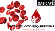 urgent blood requirement