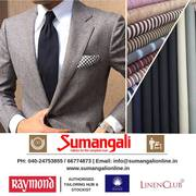 Best online custom suits, shirts and trousers from Sumangali Fabrics