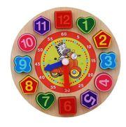 Buy Colorful Kids Wooden Toy Clock |ShoppySanta