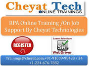 Cheyat Technologies - The best RPA Online Training and BluePrism Onlin
