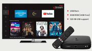 Airtel Xstream 4K Hybrid Box - Movies,  Apps,  Games & TV Channels