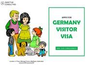 Get Germany Visitor Visa through Sanctum Consulting