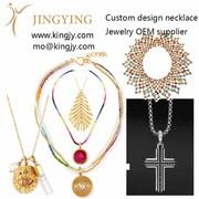 Custom necklace 18k gold 925 sterling OEM